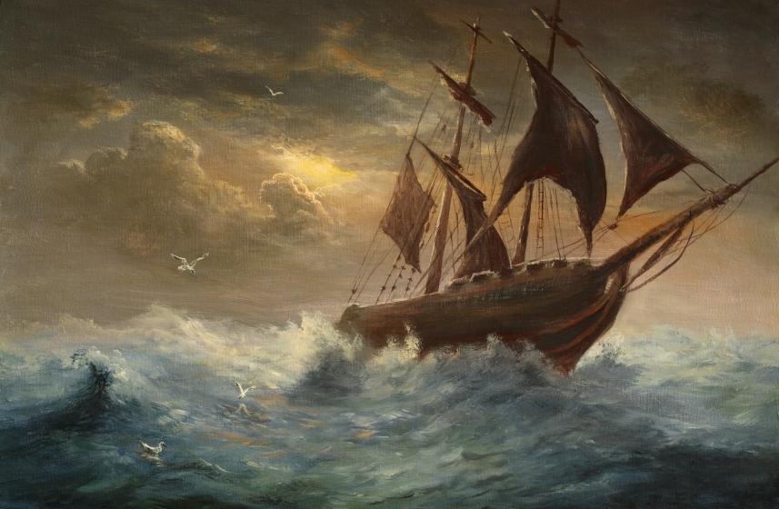 rudderless ship