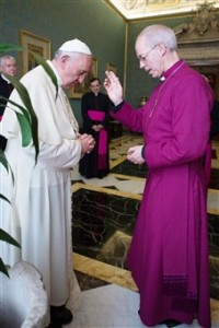 Welby blesses francis