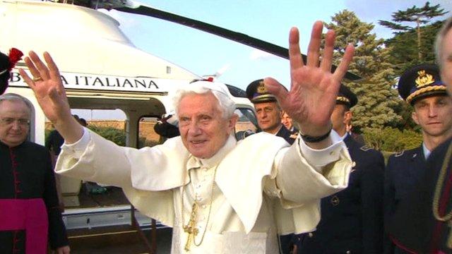 Benedict departs