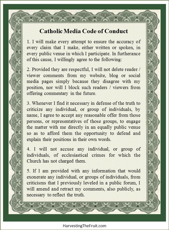 Catholic Media Code of Conduct