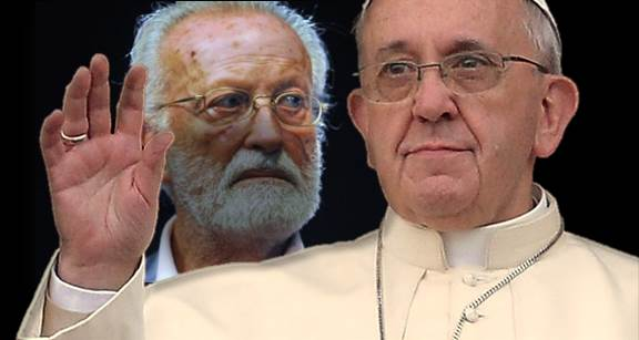 Risultato immagine per scalfari and pope francis images