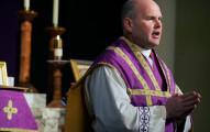 JENNIFER SIMONSON • jsimonson@startribune.com South St. Paul, MN-Feb. 8, 2008] Fr. John Echert performed a noon mass in Latin at Holy Trinity Catholic Church.