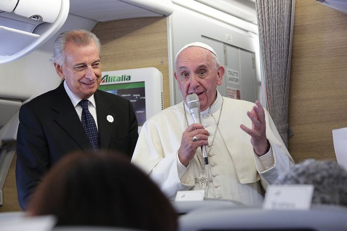 Francis in flight