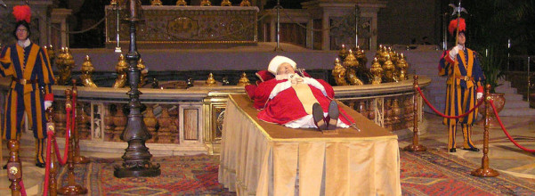 Pope John Paul the Great Ecumenist lying in state