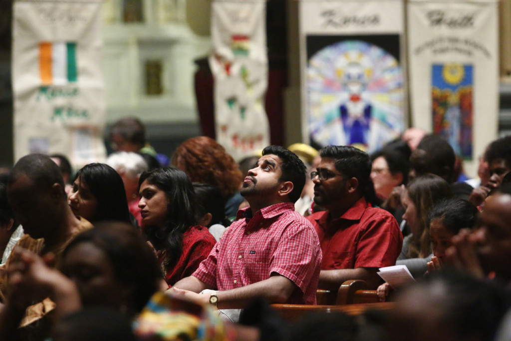The increasing cultural diversity of the Catholic community in Philadelphia is one of the takeaways from a census of Mass attendance taken last October in parish of the Archdiocese of Philadelphia. Such diversity was on display at the annual Cultural Heritage Mass in March (above) in the Cathedral Basilica of SS. Peter and Paul, Philadelphia. (Photo by Sarah Webb)