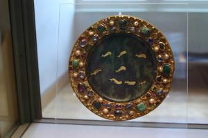 Serpentine paten,  Carolingian