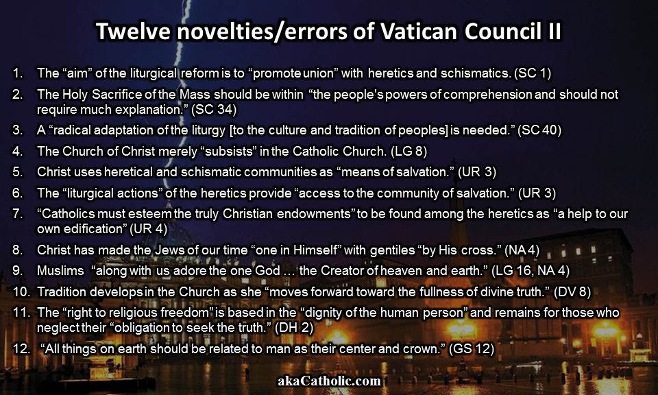 12 Novelties Vatican II