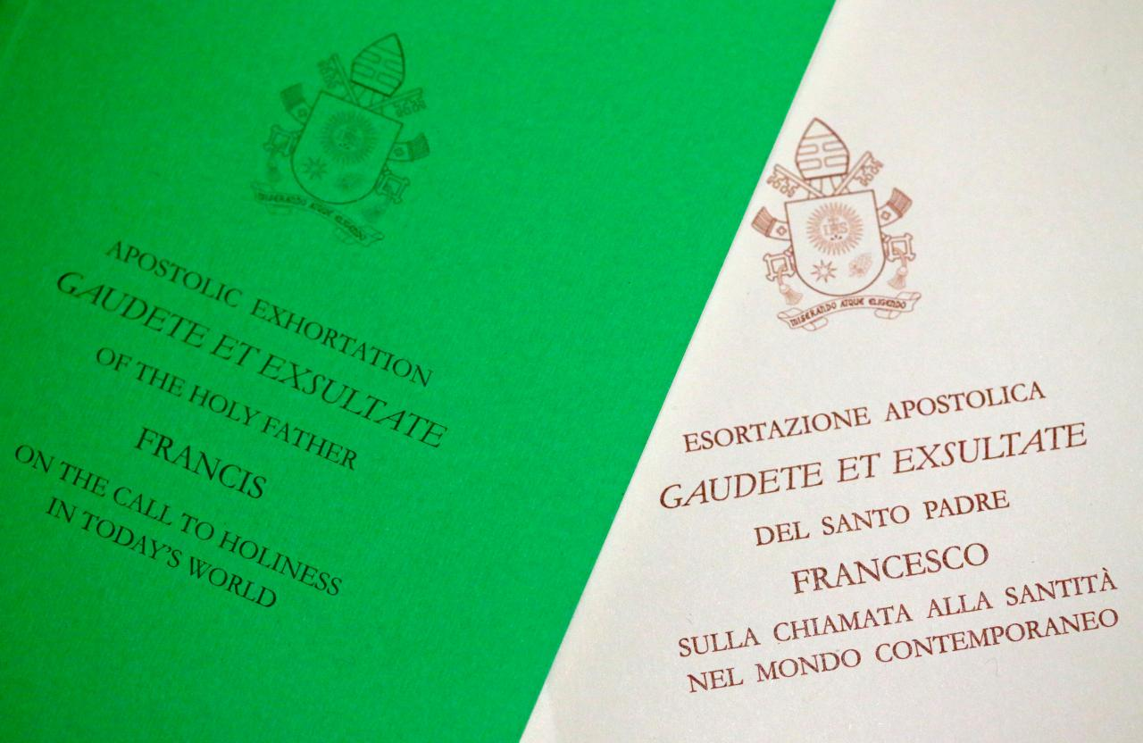 The latest installment in the bergoglian trilogy aka catholic pope francis document known as an apostolic exhortation entitled gaudete et exsultate rejoice malvernweather Choice Image