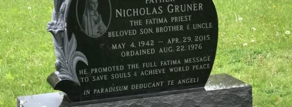 Fr. Gruner headstone
