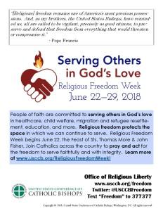 USCCB Religious Freedom Week Bulletin insert