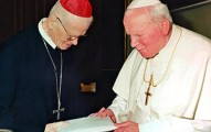 Cardinal Hans Hermann Groër with John Paul II