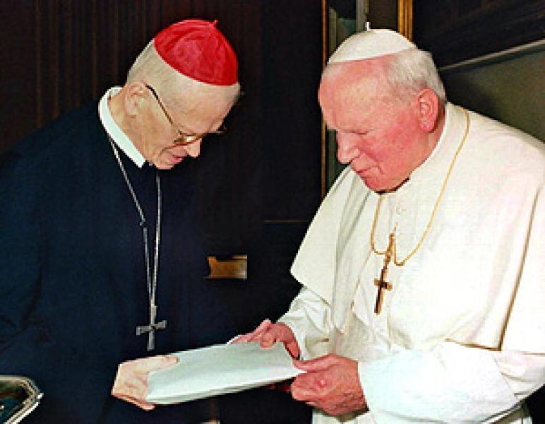 Groer, con Juan Pablo II