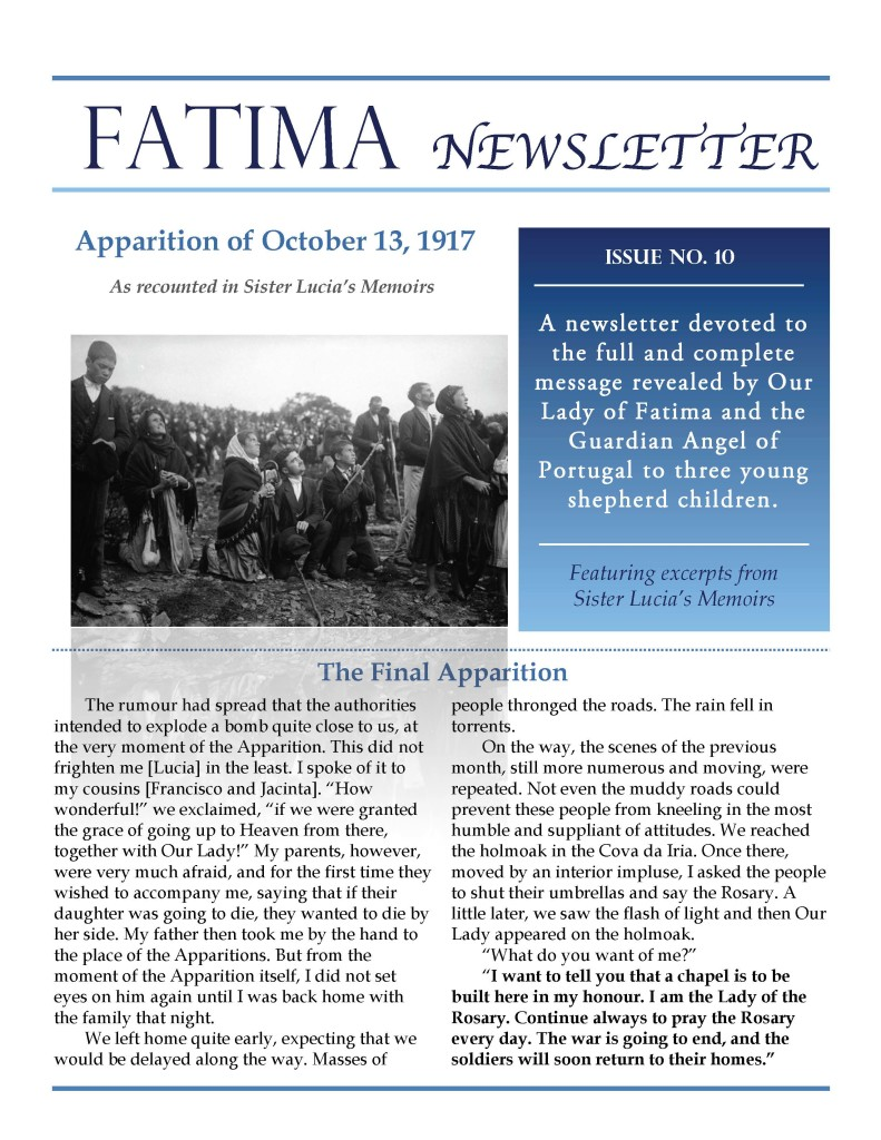 Fatima Newsletter_Issue 10_October 2019_Page_1