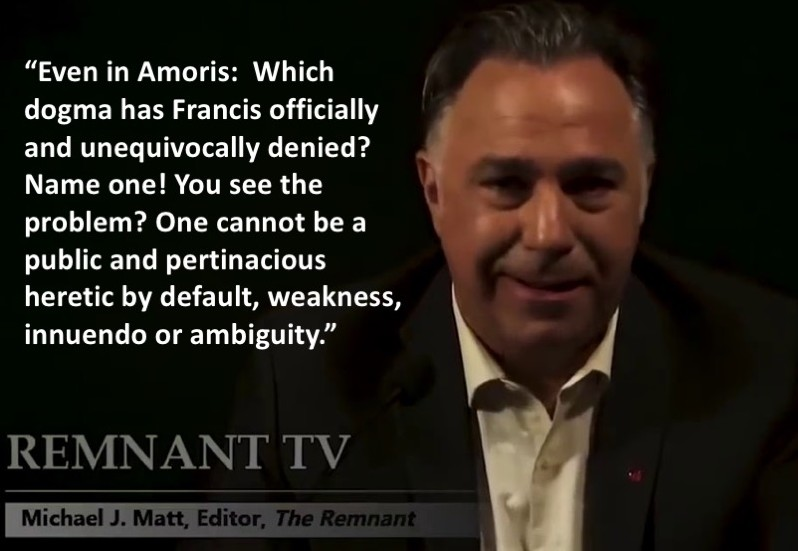 Michael Matt on Amoris